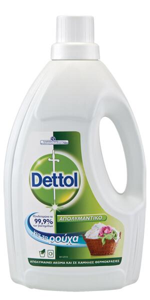Υγρό πλυντηρίου ρούχων DETTOL απολυμαντικό χωρίς άρωμα 1,5lt