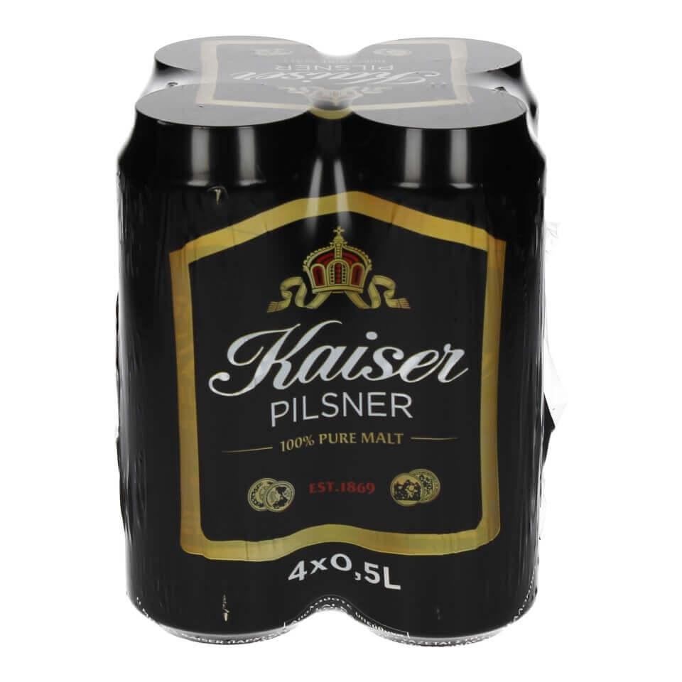 Μπύρα KAISER κουτί 4x500ml