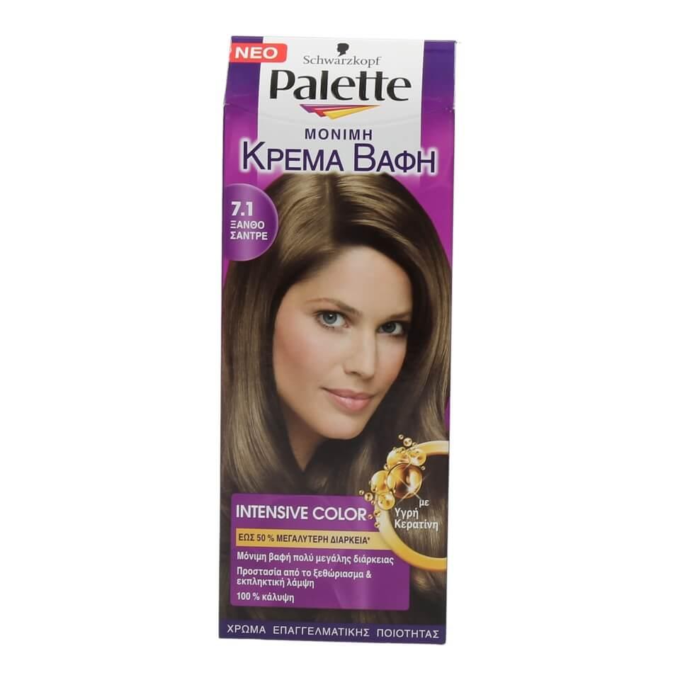 Βαφή μαλλιών PALETTE ξανθό σαντρέ N.7.1
