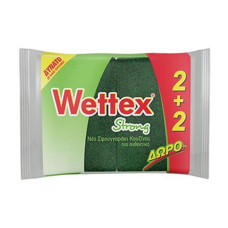 Σφουγγαράκια κουζίνας WETTEX strong (2+2 δώρο)