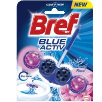 Block τουαλέτας BREF Blue Active floral 50gr