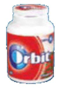 Τσίχλες ORBIT φράουλα μπουκάλι 64gr 46τμχ
