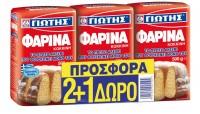 Φαρίνα ΓΙΩΤΗΣ κόκκινη 3x500gr (2+1 δώρο)