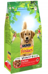 Σκυλοτρόφη FRISKIES active vitafit βοδινό 1,5kg