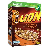Δημητριακά NESTLE Lion caramel & choco 400gr