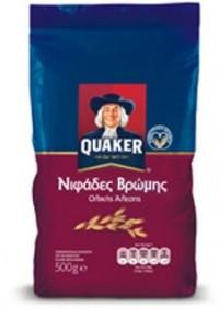 Δημητριακά QUAKER νιφάδες βρώμης 500gr