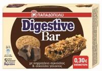 Μπάρες Δημητριακών ΠΑΠΑΔΟΠΟΥΛΟΥ Digestive με κομμάτια σοκολάτας 5x28gr (-0,30€)