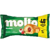 Κρουασάν MOLTO βανίλια- φράουλα 110gr (80gr+40% δώρο)