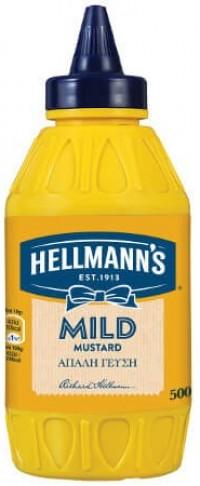 Μουστάρδα HELLMANN'S Απαλή 500gr