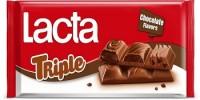 Σοκολάτα LACTA triple choco 90gr