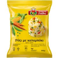 Ρύζι ΜΠΑΡΜΠΑ ΣΤΑΘΗΣ με καλαμπόκι 600gr