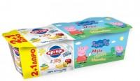 Παιδικό επιδόρπιο ΚΡΙ ΚΡΙ Peppa pig μήλο αχλάδι μπανάνα 3x140gr (2+1 δώρο)