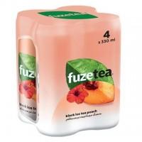 Ice tea FUZE TEA ροδάκινο με εκχύλισμα ιβίσκου 4x330ml