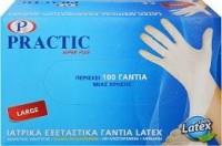 Γάντια PRACTIC latex large 100τμχ