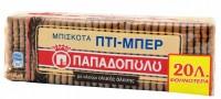 Μπισκότα πτι μπερ ΠΑΠΑΔΟΠΟΥΛΟΥ ολικής άλεσης 225gr (-0,20€)