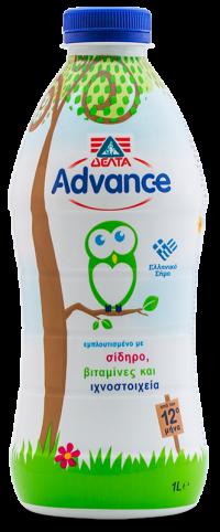 Γάλα ΔΕΛΤΑ Advance υψηλής θερμικής επεξεργασίας 1lt