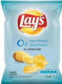 Πατατάκια LAY'S 0% αλάτι 140gr