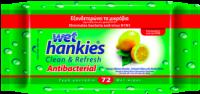 Υγρά μαντηλάκια WET HANKIES lemon fresh 72τμχ