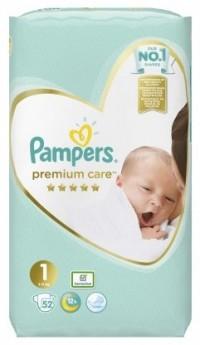Πάνες PAMPERS Premium Care Newborn Νο1 2-5kg 52τμχ