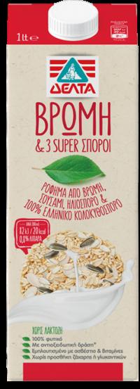 Ρόφημα ΔΕΛΤΑ βρώμη & 3 super σπόροι 1lt