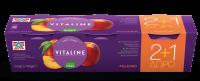 Επιδόρπιο γιαουρτιού ΔΕΛΤΑ vitaline με ροδάκινο 3x180gr (2+1 Δώρο)