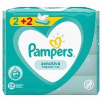 Μωρομάντηλα PAMPERS sensitive 4x52τμχ (2+2 δώρο)