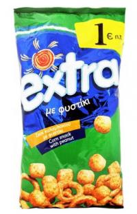 Σνακ καλαμποκιού EXTRA με φυστίκι 125gr