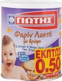 Κρέμα παιδική ΓΙΩΤΗΣ φαρίν λακτέ με βρώμη 300gr (-0,50€)