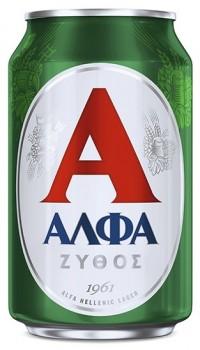 Μπύρα ΑΛΦΑ κουτί 330ml
