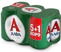 Μπύρα ΑΛΦΑ κουτί 6x330ml (5+1 δώρο)