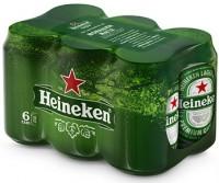 Μπύρα HEINEKEN κουτί 6x330ml
