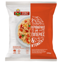 Κριθαράκι ΜΠΑΡΜΠΑ ΣΤΑΘΗΣ με πιπεριές & ντομάτα 500gr