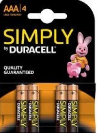 Μπαταρίες DURACELL simply alc AAA 4τμχ.