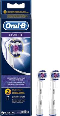 Ανταλ/κό ηλεκ/κίνητης οδοντ/τσας ORAL B 3D White 2τμχ