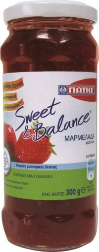 Μαρμελάδα ΓΙΩΤΗΣ Sweet & Balance φράουλα 300gr