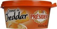 Τυρί PRESIDENT κρέμα cheddar 125gr