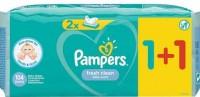 Μωρομάντηλα PAMPERS fresh clean 2x52τμχ (1+1 δώρο)