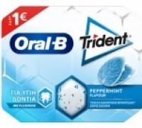 Τσίχλες TRIDENT Oral b μέντα 17gr