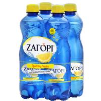 Ανθρακούχο νερό ΖΑΓΟΡΙ με άρωμα λεμονιού-λάϊμ 4x500ml