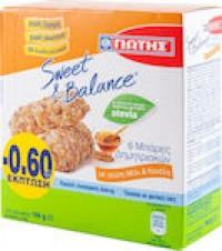 Μπάρες δημητριακών ΓΙΩΤΗΣ sweet & balance μέλι & κανέλα 6x24gr (-0,60€)