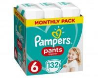 Πάνες PAMPERS pants monthly pack No6 15kg+ 132τμχ