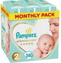Πάνες PAMPERS Premium Care Monthly Pack Νο2 4-8kg 240τμχ