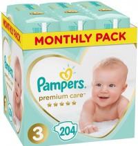 Πάνες PAMPERS Premium Care Monthly Pack Νο3 5-9kg 204τμχ