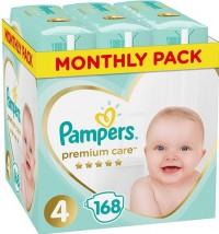 Πάνες PAMPERS Premium Care Monthly Pack Νο4 8-14kg 168τμχ