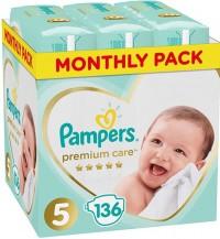 Πάνες PAMPERS Premium Care Monthly Pack Νο5 11-18kg 136τμχ