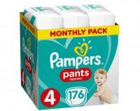 Πάνες PAMPERS pants monthly pack No4 9-15kg 176τμχ