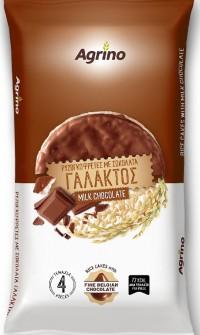 Ρυζογκοφρέτες AGRINO με σοκολάτα γάλακτος 60gr