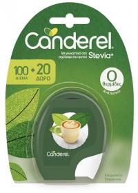 Γλυκαντικό σε δισκία CANDEREL stevia 100τμχ (+20τμχ)