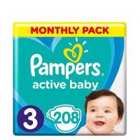 Πάνες PAMPERS Active Baby Monthly Pack No3 6-10kg 208τμχ