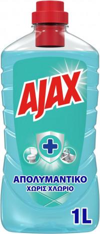 Υγρό καθαριστικό AJAX απολυμαντικό χωρίς χλώριο ocean fresh 1lt
